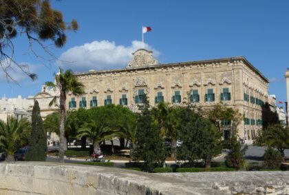 Auberge de Castille in Valletta